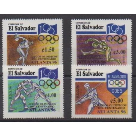 Salvador - 1996 - No 1281/1284 - Jeux Olympiques d'été