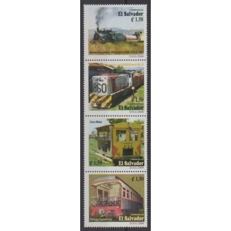 Salvador - 2000 - No 1467/1470 - Chemins de fer