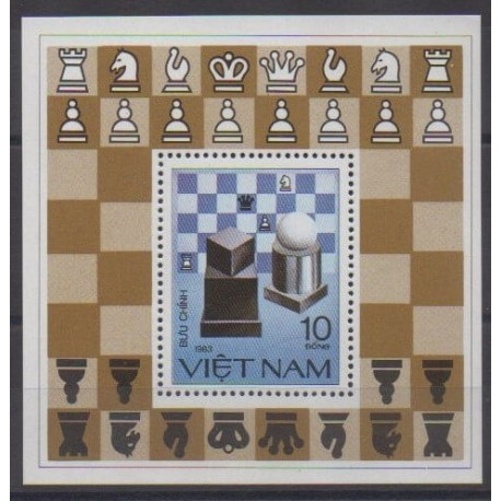 Vietnam - 1983 - No BF6 - Échecs