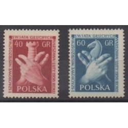 Pologne - 1956 - No 845/846 - Échecs