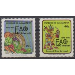 Salvador - 1985 - Nb 970/971