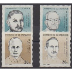 Salvador - 1987 - Nb 1008/1011 - Celebrities