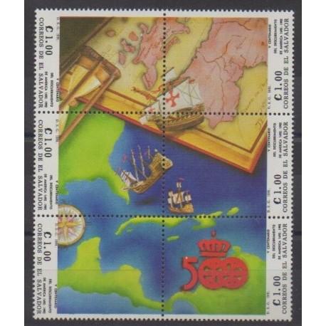 Salvador - 1991 - No 1110/1115 - Christophe Colomb