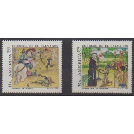 Salvador - 1991 - No 1121/1122 - Christophe Colomb
