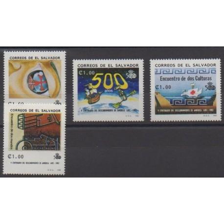 Salvador - 1992 - No 1154A/1154D - Christophe Colomb