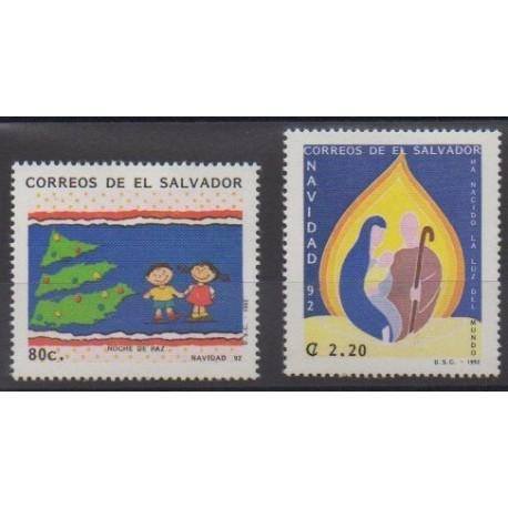 Salvador - 1992 - No 1162A/1162B - Noël