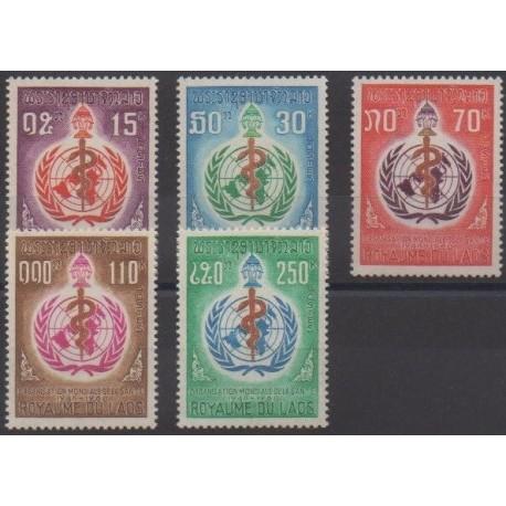 Laos - 1968 - No 177/181 - Santé ou Croix-Rouge