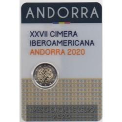 2 euro commémorative - Andorre - 2020 - La tenue du 27ème Sommet ibéro-américain à Andorre - BU