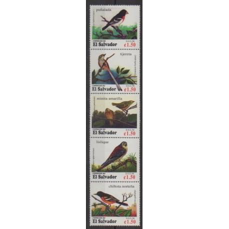 Salvador - 1996 - No 1291/1295 - Oiseaux