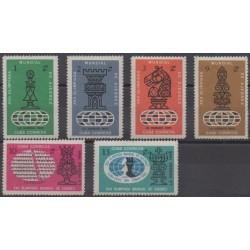 Cuba - 1966 - Nb 1030/1035 - Chess