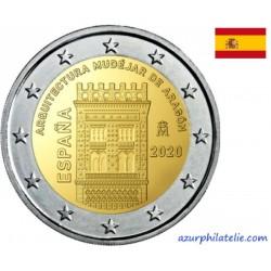 2 euro commémorative - Espagne - 2020 - Architecture mudéjar d'Aragon - UNC
