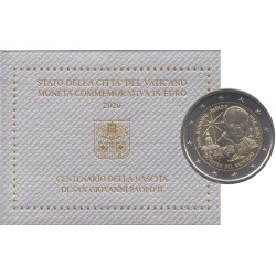 2 euro commémorative - Vatican - 2020 - 100th Anniversary of the Birth of Pope John Paul II - UNC