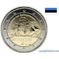 2 euro commémorative - Estonia - 2020 - The bicentenary of the discovery of Antarctica - UNC