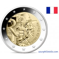 2 euro commémorative - France - 2020 - Charles de Gaulle - UNC