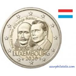 2 euro commémorative - Luxembourg - 2020 - 200 ans de la naissance du Prince Henry - UNC