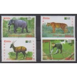 Laos - 2011 - No 1813/1816 - Mammifères - Espèces menacées - WWF