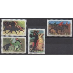 Gambie - 2000 - No 3385X/3385AA - Chevaux