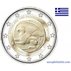 2 euro commémorative - Greece - 2020 - 100th anniversary of the union of Thrace with Greece - UNC