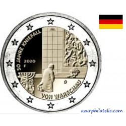 2 euro commémorative - Germany - 2020 - 50 years of the Warsaw genuflection - UNC