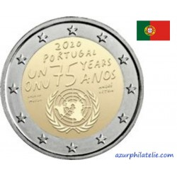 2 euro commémorative - Portugal - 2020 - 75th anniversary of the United Nations - UNC