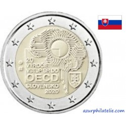 2 euro commémorative - Slovakia - 2020 - 20th anniversary of Slovakia's accession to OECD - UNC