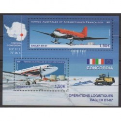 French Southern and Antarctic Lands - Blocks and sheets - 2021 - Basler BT-67 - Planes