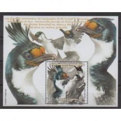 TAAF - Blocs et feuillets - 2021 - No F958 - Oiseaux - Cormorans