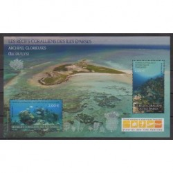 French Southern and Antarctic Lands - Blocks and sheets - 2021 - Récifs coralliens - Sea life - Sights