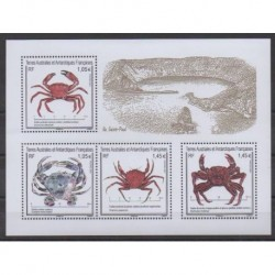 French Southern and Antarctic Lands - Blocks and sheets - 2021 - Crabes - Sea life