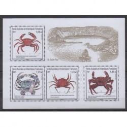 TAAF - Blocs et feuillets - 2021 - Crabes - Vie marine