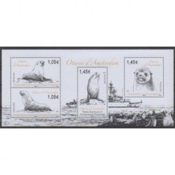 French Southern and Antarctic Lands - Blocks and sheets - 2021 - Otaries d'Amsterdam - Mamals - Sea life