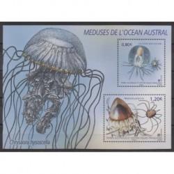 TAAF - Blocs et feuillets - 2021 - No F963 - Vie marine - Méduses de l'océan austral