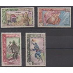 Laos - 1962 - Nb 82/85 - Postal Service - Philately