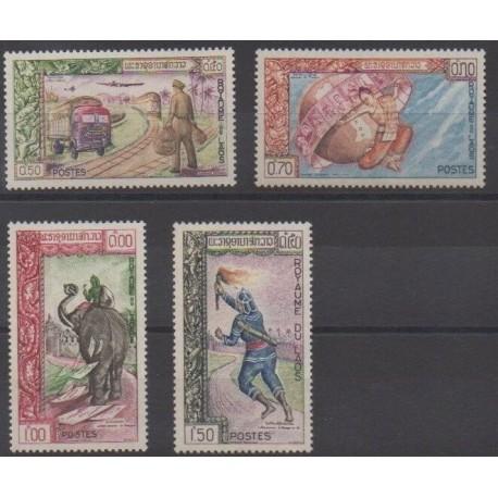 Laos - 1962 - No 82/85 - Service postal - Philatélie