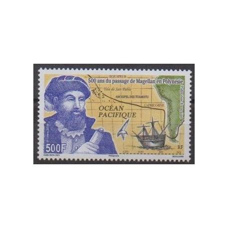 Polynésie - 2021 - No 1259 - Navigation - Histoire - Magellan