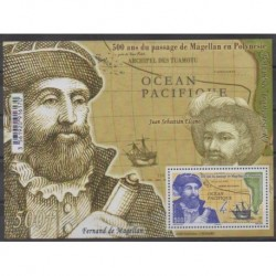 Polynesia - Blocks and sheets - 2021 - Nb BF Magellan - Boats - Various Historics Themes