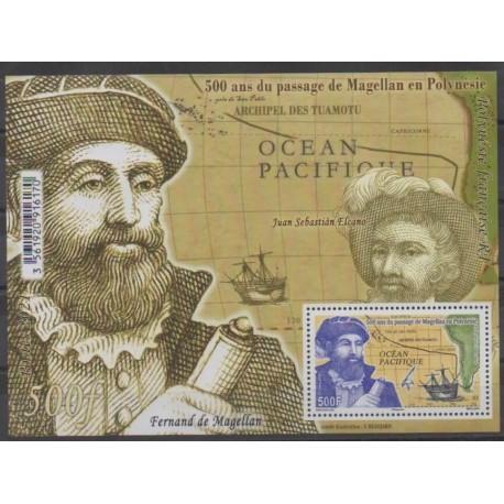 Polynésie - Blocs et feuillets - 2021 - No BF54 - Navigation - Histoire - Magellan
