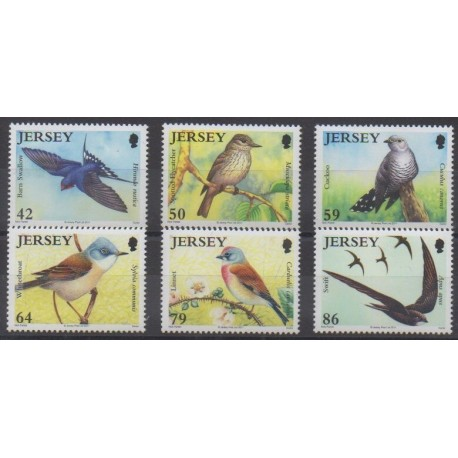 Jersey - 2011 - No 1647/1652 - Oiseaux