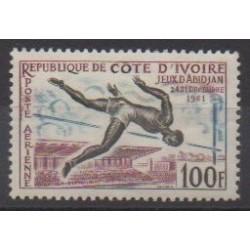 Côte d'Ivoire - 1961 - No PA21 - Sports divers