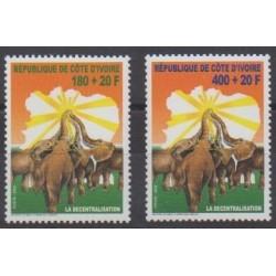 Ivory Coast - 2002 - Nb 1095/1096