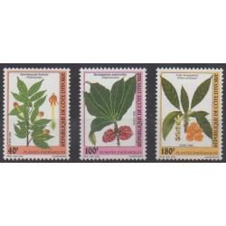 Ivory Coast - 1998 - Nb 1002/1004 - Flowers