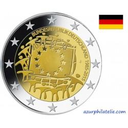2 euro commémorative - Allemagne - 2015 - 30ème anniversaire du drapeau européen - UNC
