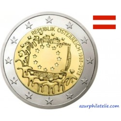 2 euro commémorative - Austria - 2015 - 30th anniversary of the EU flag - UNC