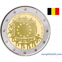 2 euro commémorative - Belgique - 2015 - 30ème anniversaire du drapeau européen - UNC