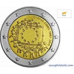 2 euro commémorative - Chypre - 2015 - 30ème anniversaire du drapeau européen - UNC