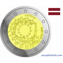 2 euro commémorative - Latvia - 2015 - 30th anniversary of the EU flag - UNC