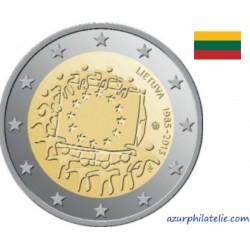 2 euro commémorative - Lituanie - 2015 - 30ème anniversaire du drapeau européen - UNC