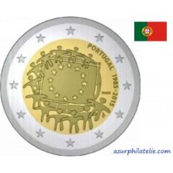 2 euro commémorative - Portugal - 2015 - 30th anniversary of the EU flag - UNC