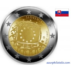 2 euro commémorative - Slovakia - 2015 - 30th anniversary of the EU flag - UNC