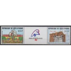 Ivory Coast - 1989 - Nb 832A - French Revolution - Postal Service